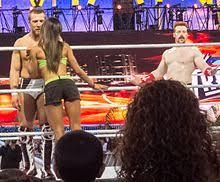 AJ Lee   Wikipedia Wikipedia The kiss that cost Daniel Bryan his World Heavyweight Championship to Sheamus at WrestleMania XXVIII