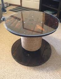 round top glass spool cable table base in nashville letgo