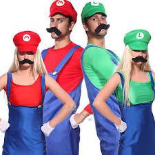 mens womens super mario luigi bros cosplay costume couples