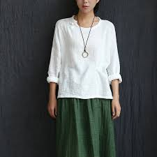 linen blouses aliexpress com buy sleeve o neck cotton linen blouses