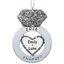 we re engaged personalized tree ornament home kitchen