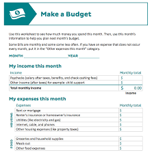9 useful budget worksheets that are 100 free