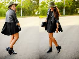 little black dress with booties dress and mode