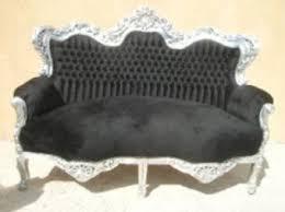 canapé baroque canapé baroque velours noir