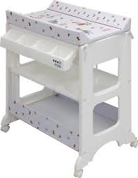 changing table with wheels ib style changing table with bath on wheels unit bathtube for
