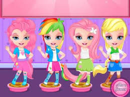 baby barbie pony face painting baby games kids