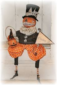 Vintage Halloween Decorations 288 Best Halloween And Autumn Art Dolls Images On Pinterest