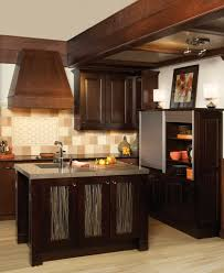 Espresso Kitchen Cabinets Fine Looking U Shaped Espresso Kitchen Cabinets Escorted By Gray