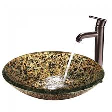 Bronze Faucets Bathroom Sink Vgt119 Triton Glass Vessel Bathroom Sink And Oil Rubbed Bronze