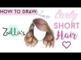 how to draw zoella u0027s curly short hair drawing tutorial