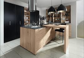 cuisine couleur bois impressionnant cuisine couleur bois avec cuisine bois et noir deco