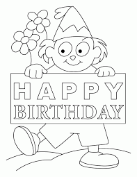 coloring pages birthday card boy coloring