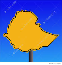 Ethiopia Map Africa by Ethiopia Map Sign Stock Illustration I1656182 At Featurepics