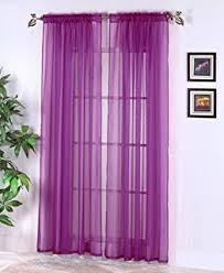 Fuchsia Pink Curtains Amazon Com 2 Piece Solid Fuchsia Pink Sheer Curtains Fully