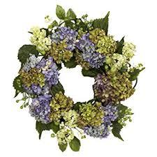 Purple Hydrangea Amazon Com Nearly Natural 4781 Hydrangea Wreath 22 Inch Purple