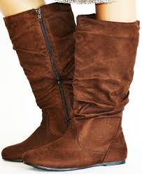 amazon com twisted women u0027s shelly faux suede slouch mid calf
