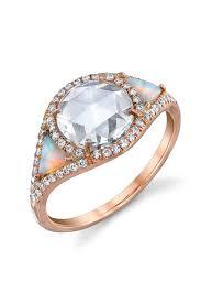 opal and diamond engagement rings 33 beautiful opal engagement rings unique opal engagement rings
