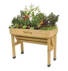 outdoor wood raised garden bed vegetable planter elevated herb