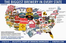 50 State Map Map The Biggest Brewery In Every State In America Vinepair