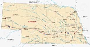 Nebraska Map Nebraska Road Map Royalty Free Cliparts Vectors And Stock