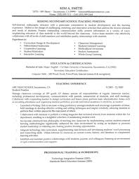 Example Of Australian Resume by Secondary Teacher Resume Example Page 1