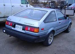 toyota 86 corolla 1984 1987 toyota corolla sport coupe a last rear wheel drive