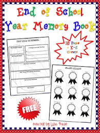free end of school year memory book for grades k 5 by frase