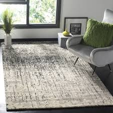 Modern Grey Rug Safavieh Retro Mid Century Modern Abstract Black Light Grey