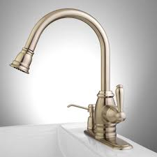 hansgrohe brushed nickel pull down kitchen faucet for your