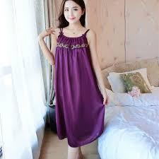 Baju Tidur wanita katun baju tidur wanita pakaian tidur malam gaun tanpa lengan
