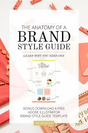 the anatomy of a brand style guide brand style guide business