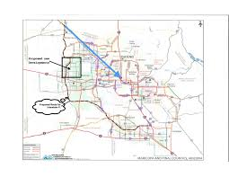 Phx Map The Proposed Interstate 11 Phoenix And The Amalgamation