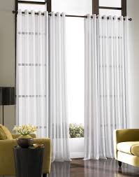 canvas of interior with sheer curtain for undisguised outdoor view