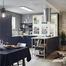 meuble cuisine bleu meuble cuisine bleu génial cuisine leroy merlin delinia excellent