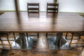 hand made industrial dining table or conference table by