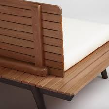 wood slat trapani deep bench with cushion wood slats furniture