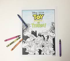 toy story of terror coloring page disney family