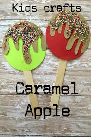 caramel apple popsicle stick craft