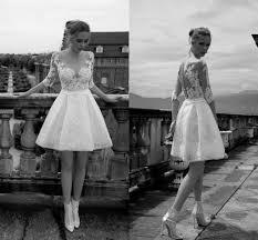 alessandra rinaudo 2016 short wedding dresses half sleeves
