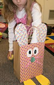 easter bags craft for kids bunny bags