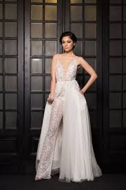 wedding dress jumpsuit 15 pretty overskirt wedding dresses wedding jumpsuit