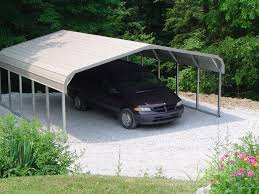 exterior modern white canopy of the homes with metal carport and