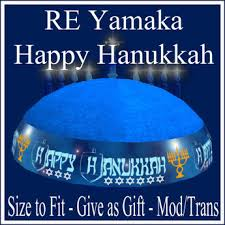 chanukah hat second marketplace re happy hanukkah yamaka hat on sale