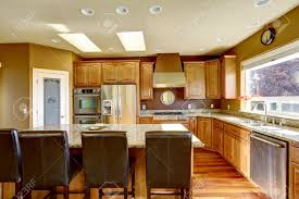 luxury kitchen islands luxury kitchen with ss appliances and kitchen island with black