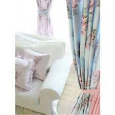 Shabby Chic Curtains Cottage Shabby Cottage Blue Pink Roses Chic Drapes Curtain Fabric By The