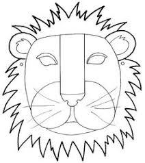 lion mask craft panda mask cut color craft animals zoo