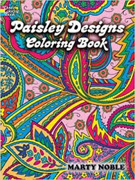 paisley designs coloring book dover design coloring books marty