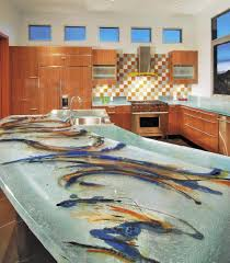 unique kitchen countertops glass tops for cool and unusual kitchen designs from thinkglass
