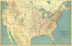 Northwest Usa Map by United States Of America Map 1933 Maps Com