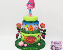 fondant trolls cake etsy